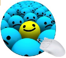 Blue Balls Smiley Faces Mouse Pad