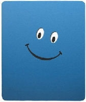 Blue Smiley Face Rectangular Mouse Pad