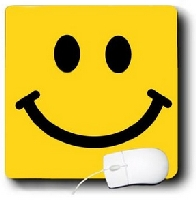 Bright Smiley Face Square Mouse Pad