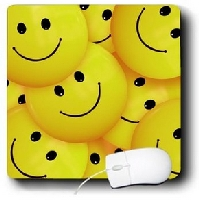 Bunch of Smiley Faces Mouse Pad