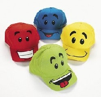 Dozen Smiley Face Baseball Caps