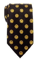 Emoticon Woven Microfiber Men's Tie