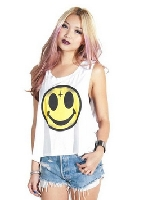 Womens Evil Smiley Face Tank