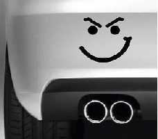 Evil Smiley Face Vinyl Decal