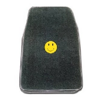 Front Floormat with Smiley Face Logo