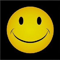 Golden Yellow Smiley Face Poster
