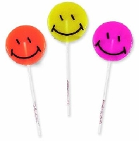 Happy Face Candy Lollipops