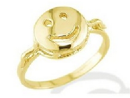 Happy Face Kids Gold Ring