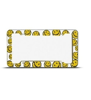 Happy Face Plastic License Plate Frame