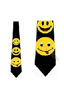 Happy Face Mens Necktie