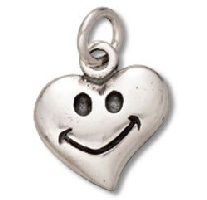 Happy Face On Heart Pendant