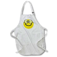 Happy Nerd with Glasses Apron
