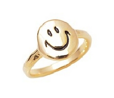 Happy Smiley Face Fashion Ring