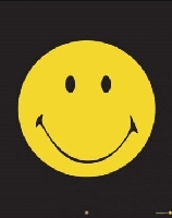 Laminated Yellow Smiley Face Poster