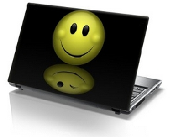Laptop Skin Protective Smiley Face Decal