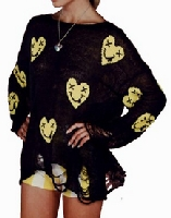 Loving Heart Smiley Face Modern Sweater
