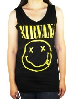 Nirvana Smiley Face Shirt Tank Top Black