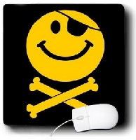 Pirate Smiley Face Mouse Pad