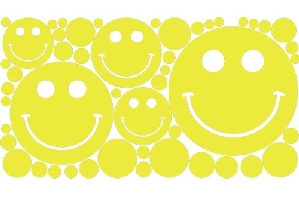 Polka Dots & Smiley Face Wall Stickers