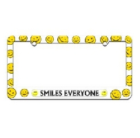 Smiles Everyone License Plate Frame