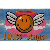 Smiley Face 100% Angel Area Rug