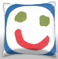 Smiley Face 18 x 18 Inch Pillow