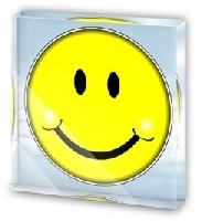 Smiley Face Acrylic Desk Plaque Paperweight