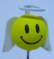 Smiley Face Angel with Wings Antenna Topper