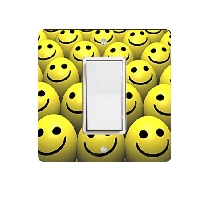 Smiley Face Balls Light Switch Plate
