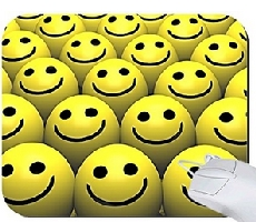 Smiley Face Balls Mouse Pad