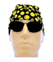Smiley Face Biker Headwrap