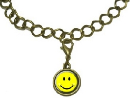 Smiley Face Charm with Chain Bracelet