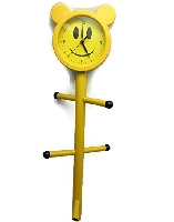 Smiley Face Cloth Rack with Clock
