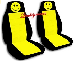 Smiley face front seat covers