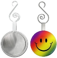 Smiley Face Funny 2.25 inch Glass Mirror
