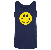 Smiley Face Funny Adult Tank Top