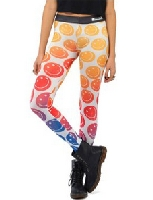 Smiley Face Multi Color Leggings