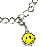 Smiley Face Silver Plated Bracelet