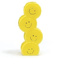 Smiley Face Stacked Vase
