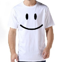 Smiley Face T Shirt For Male