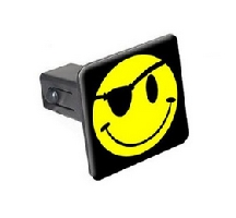 Smiley Pirate Face Trailer Hitch Cover