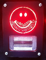 Stubble Smiley Face Jeep Tail Lamp Covers