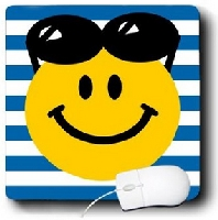 Summery Smiley Face Mouse Pad