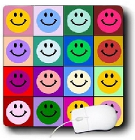 Warhol Style Smiley Face Mouse Pad