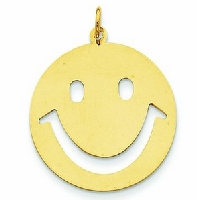 Yellow Gold Smiley Face Charm