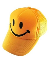 Youth Smiley Face Mesh Hat